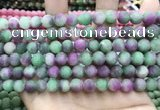 CCN5622 15 inches 8mm round matte candy jade beads Wholesale