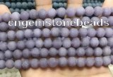 CCN5625 15 inches 8mm round matte candy jade beads Wholesale