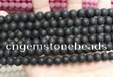 CCN5631 15 inches 8mm round matte candy jade beads Wholesale