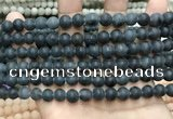 CCN5635 15 inches 8mm round matte candy jade beads Wholesale