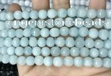 CCN5653 15 inches 8mm faceted round candy jade beads