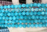 CCN5656 15 inches 8mm faceted round candy jade beads