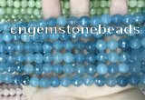 CCN5657 15 inches 8mm faceted round candy jade beads