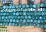 CCN5658 15 inches 8mm faceted round candy jade beads