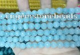 CCN5661 15 inches 8mm faceted round candy jade beads