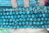 CCN5662 15 inches 8mm faceted round candy jade beads