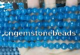 CCN5663 15 inches 8mm faceted round candy jade beads