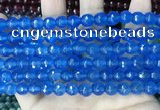 CCN5664 15 inches 8mm faceted round candy jade beads