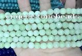 CCN5668 15 inches 8mm faceted round candy jade beads