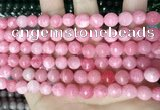 CCN5723 15 inches 8mm faceted round candy jade beads