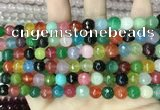 CCN5742 15 inches 8mm faceted round candy jade beads