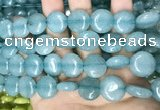 CCN5887 15 inches 15mm flat round candy jade beads Wholesale