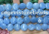 CCN5890 15 inches 15mm flat round candy jade beads Wholesale