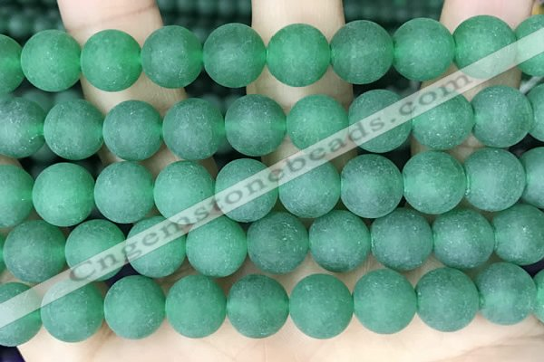 CCN6364 15.5 inches 6mm, 8mm, 10mm & 12mm round matte candy jade beads