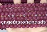 CCN6371 15.5 inches 6mm, 8mm, 10mm & 12mm round matte candy jade beads