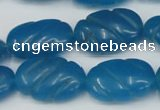 CCN684 15.5 inches 15*23mm carved oval candy jade beads wholesale