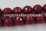 CCN791 15.5 inches 8mm faceted round candy jade beads wholesale