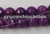 CCN796 15.5 inches 8mm faceted round candy jade beads wholesale