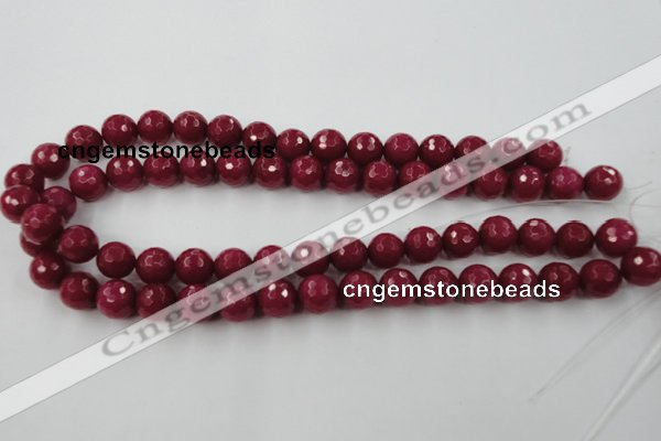 CCN825 15.5 inches 12mm faceted round candy jade beads wholesale