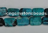 CCO190 15.5 inches 10*14mm rectangle dyed natural chrysotine beads