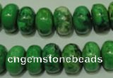 CCO313 15.5 inches 10*14mm rondelle dyed chrysotine beads wholesale