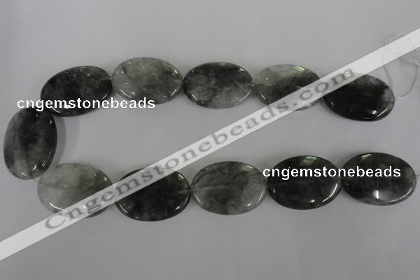 CCQ393 15.5 inches 25*35mm oval cloudy quartz beads wholesale