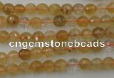 CCR151 15.5 inches 6mm faceted round natural citrine gemstone beads