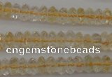 CCR171 15.5 inches 3*5mm faceted rondelle natural citrine beads