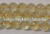 CCR203 15.5 inches 10mm faceted round natural citrine gemstone beads