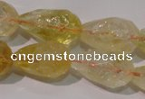 CCR212 15.5 inches 13*18mm faceted teardrop citrine gemstone beads
