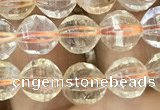 CCR321 15.5 inches 6mm faceted round natural citrine beads