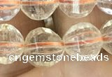 CCR323 15.5 inches 10mm faceted round natural citrine beads