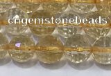 CCR338 15.5 inches 6mmm faceted round citrine gemstone beads