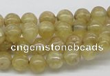 CCR81 15.5 inches 8mm round citrine gemstone beads wholesale