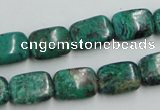 CCS230 15.5 inches 10*14mm rectangle natural Chinese chrysocolla beads