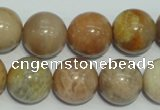 CCS308 15.5 inches 18mm round natural sunstone beads wholesale