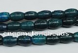 CCS412 15.5 inches 6*9mm rice dyed chrysocolla gemstone beads