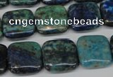 CCS85 15.5 inches 16*16mm square dyed chrysocolla gemstone beads