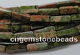 CCU517 15.5 inches 4*13mm cuboid unakite gemstone beads wholesale