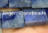 CCU650 15.5 inches 10*14mm - 11*15mm cuboid blue aventurine beads