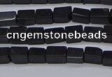 CCU700 15.5 inches 4*6mm cuboid black stone beads wholesale