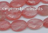 CCY165 15.5 inches 13*18mm faceted oval cherry quartz beads