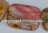 CCY223 15.5 inches 30*40mm rectangle volcano cherry quartz beads