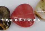 CCY232 15.5 inches 30*30mm heart volcano cherry quartz beads