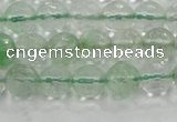 CCY612 15.5 inches 8mm faceted round green cherry quartz beads