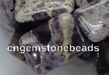 CDA07 15.5 inches 22*30mm rectangle dogtooth amethyst quartz beads