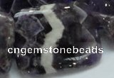 CDA09 15.5 inches 30*40mm rectangle dogtooth amethyst quartz beads