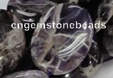 CDA11 15.5 inches 30*40mm oval dogtooth amethyst quartz beads