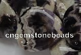 CDA15 15.5 inches 30*30mm triangle dogtooth amethyst quartz beads