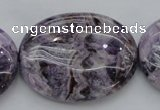 CDA304 15.5 inches 30*40mm oval dyed dogtooth amethyst beads